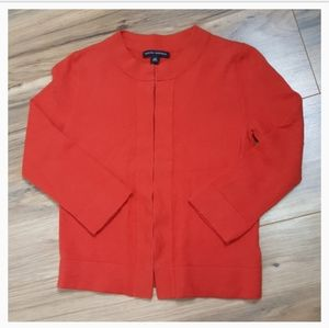 Banana Republic Orange Wool Cardigan